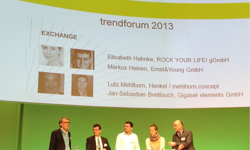 Jan-Sebastian Breitlauch (3 v.l.) diskutierte unter anderem zum Thema Innovation.