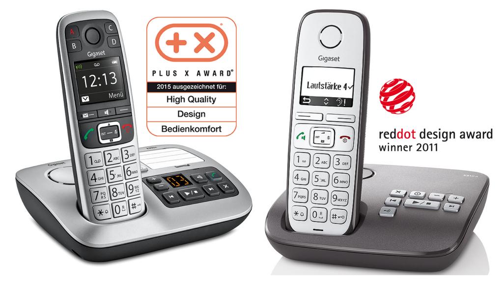 Die Gigaset Großtastentelefone E550 und E310