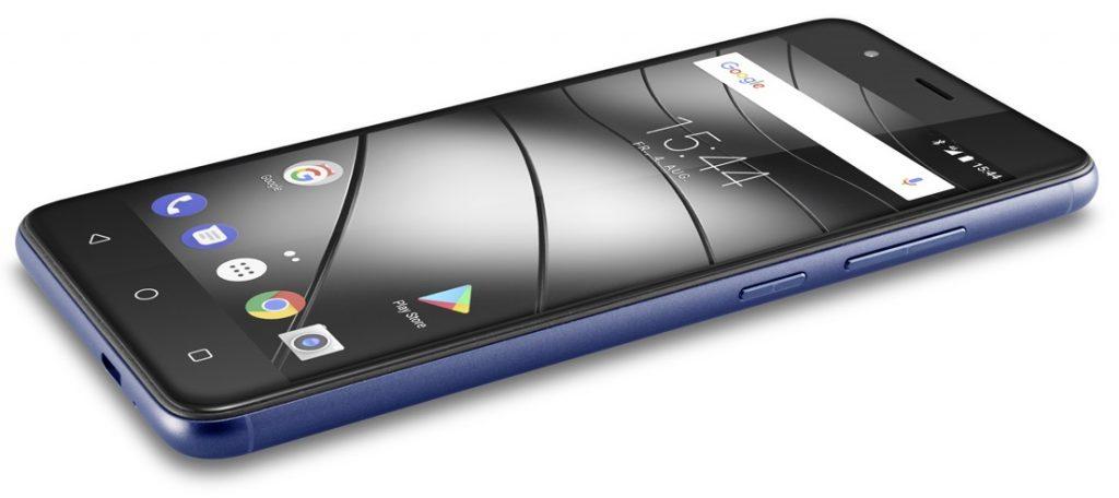 Gigaset GS270 Smartphone blau liegend