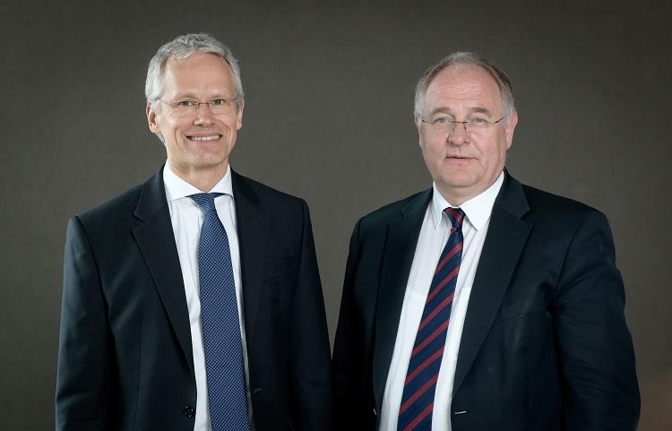 Stephan Mathys und Klaus Weßing, Vorstände der Gigaset AG