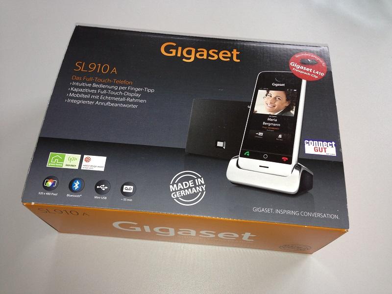 Das Gigaset SL910A Full-Touch Telefon