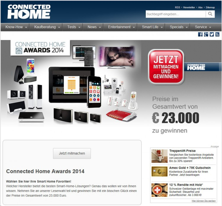 Connected Home Awards 2014