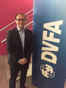 Kai Dorn, CFO der Gigaset AG, auf der DVFA Frühjahrskonferenz.