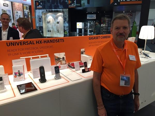 Horst Lindmeier, Produktmanager bei der Gigaset