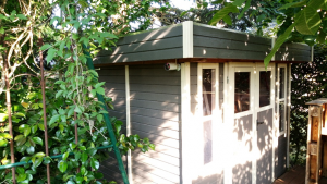 Versteckte Kamera am Gartenhaus