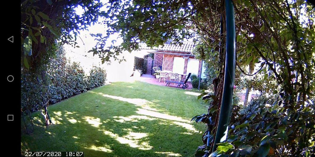 Beispielaufnahme der outdoor camera