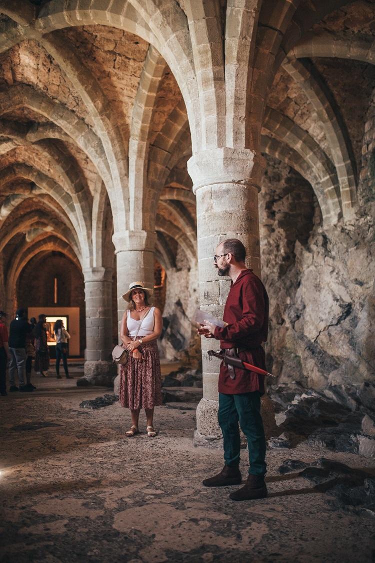 Chateau de Chillon inside